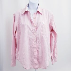 Tommy Hilfiger womans Blouse top sz 14 pink white